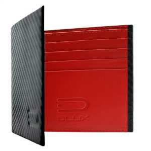 leather wallet carbon fiber