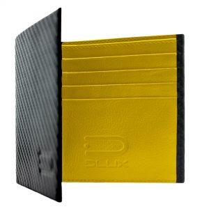 Кожаный бумажник углеродное волокно