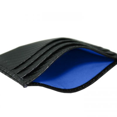 leather credit card holder carbon fiber