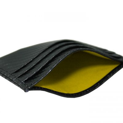 leather credit card holder carbon fiber