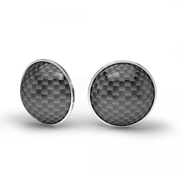 gold earrings carbon fiber
