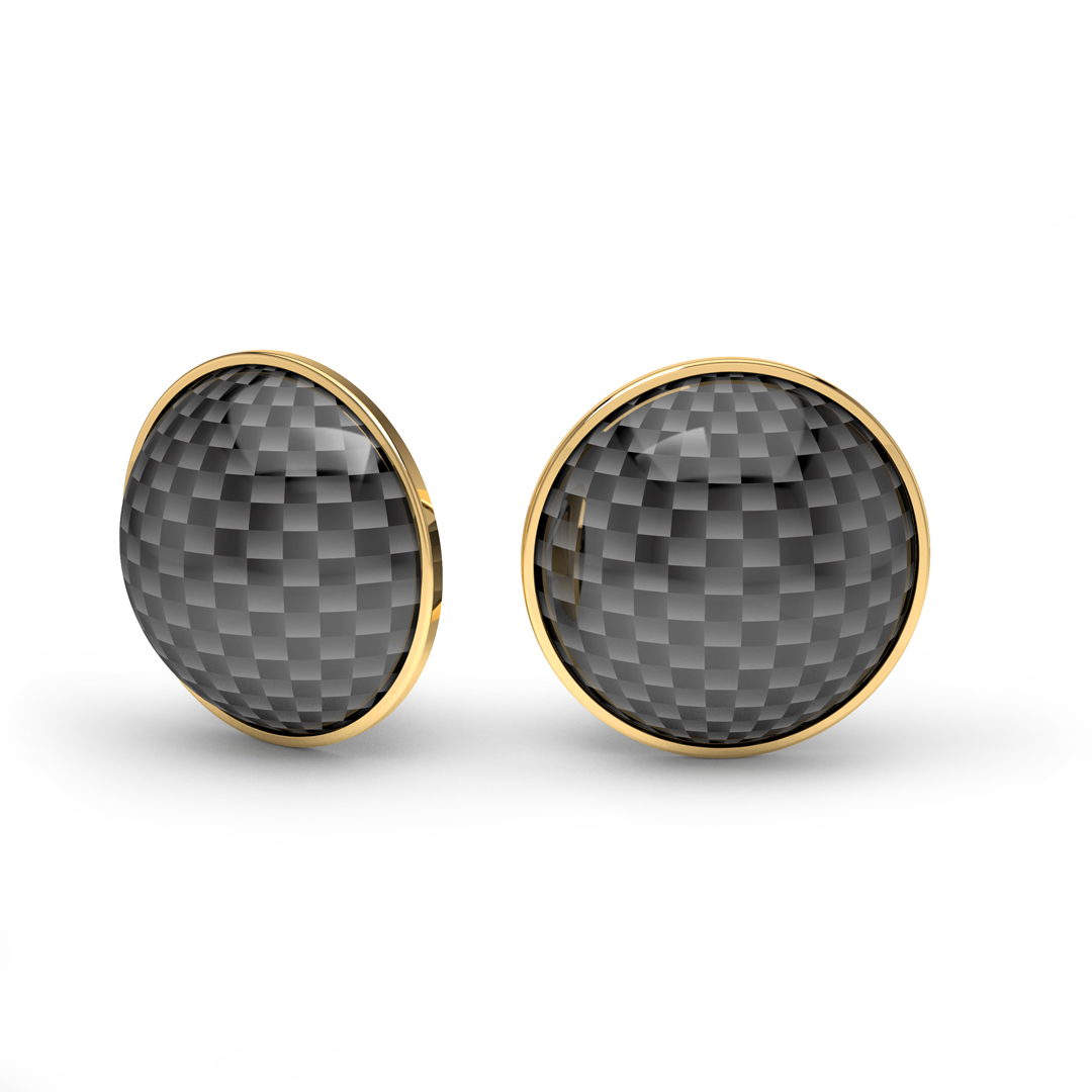 gold earrings carbon fiber