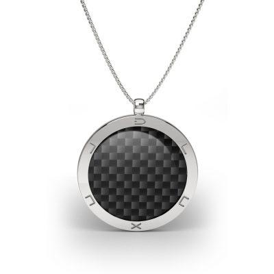 silver pendant carbon fiber
