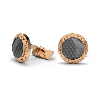 gold cufflinks carbon fiber