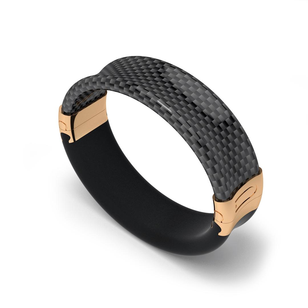 carbon fiber bracelet gold
